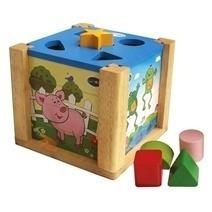 Đồ chơi gỗ - Hộp xếp hình thả khối