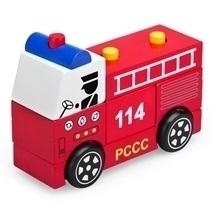 Đồ chơi gỗ - Lắp ráp xe cứu hỏa 61292