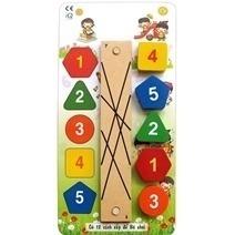 Đồ chơi gỗ - Nối đúng cặp