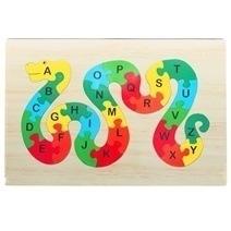 Đồ chơi gỗ - Tranh ghép ABC hình rắn