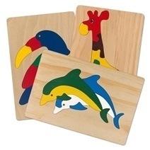 Đồ chơi gỗ - Tranh ghép thú