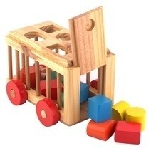 Wooden Sorting Car Kennel