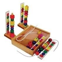 Đồ chơi gỗ - Xếp chuỗi hạt