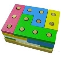 Đồ chơi gỗ - Xếp hình 12 trụ