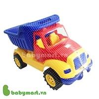 Đồ chơi nhựa - Xe tải lớn Ucar 100 đầu tải đỏ