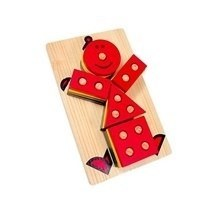Wooden Clown Geometric Stacker
