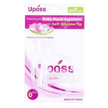 Upass nasal aspirator with soft silicone tip - White