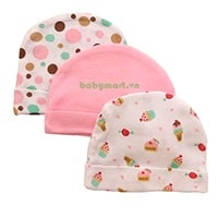 Newborn cotton hat set 3
