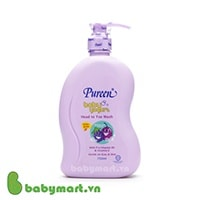Pureen kids yogurt head to toe wash 750ml black currant