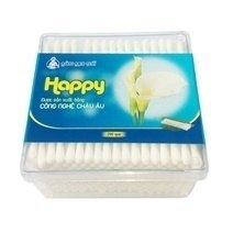 Happy Larger- Cotton Sticks - square box