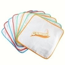 Gummi Newborn Washcloths With 2-layer