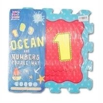 Soft Foam Play Mat Puzzle Jigsaw With Ocean and Numbers (9pcs)