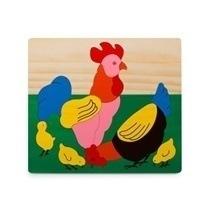 Đồ chơi gỗ - Tranh ghép đàn gà