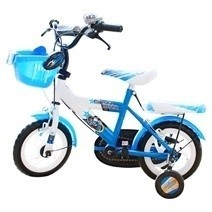 Blue White Kid's Bike 12 Inch
