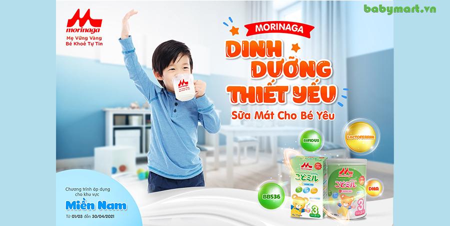 Dinh dưỡng thiết yếu - Sữa mát cho bé yêu với Morinaga cùng Babymart.vn