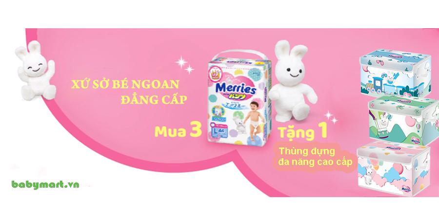 Merries, babymart.vn, Bỉm Merries quần, Bỉm Merries dán, Bỉm Merries Newborn