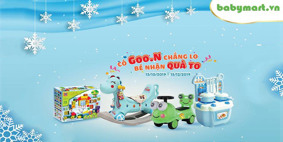 Có Goon chẳng lo bé nhận quà to cùng babymart.vn